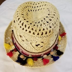 Express Hat Straw Tassels NWT One Size Summer